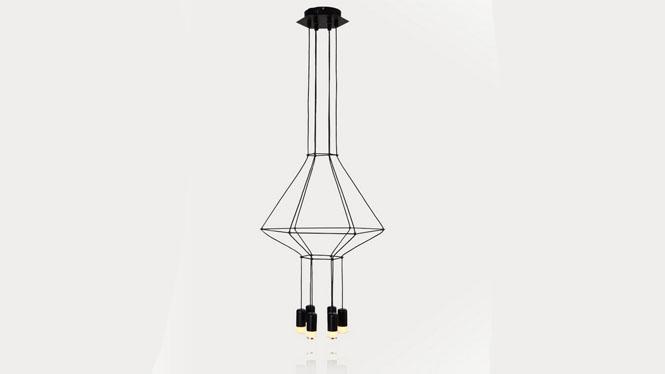 现代简约创意个性吊灯艺术餐厅客厅楼梯led几何线条吊灯6头D31