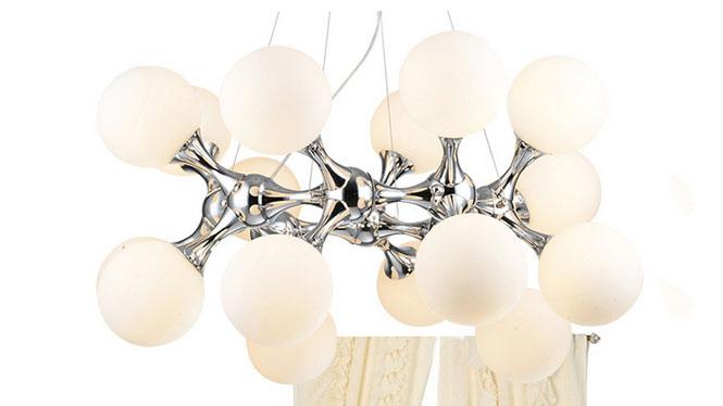 现代艺术玻璃创意个性DNA分子吊灯圆球客厅餐厅灯具D49