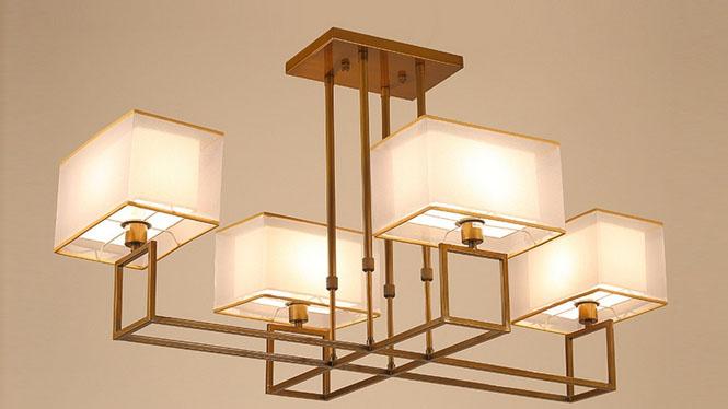 新中式吊灯客厅灯仿古铁艺中式灯具创意复古卧室餐厅灯饰大小中特大号1201