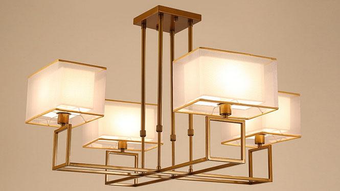 新中式吊灯客厅灯仿古铁艺中式灯具创意复古卧室餐厅灯饰小中大特大号1201