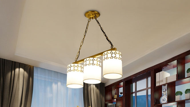 新中式吊灯复古客厅餐厅卧室灯具中式酒店饭厅吊灯饰现代铁艺3头4头6头8头10头6677