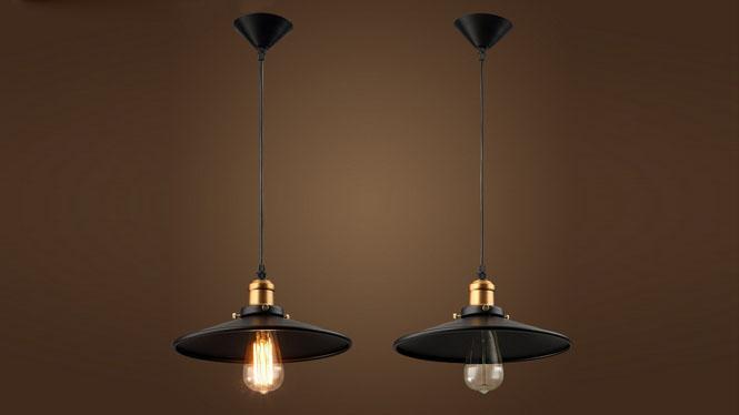 loft 复古工业个性创意吊灯 酒吧吧台餐厅书房小黑裙吊灯MD1229