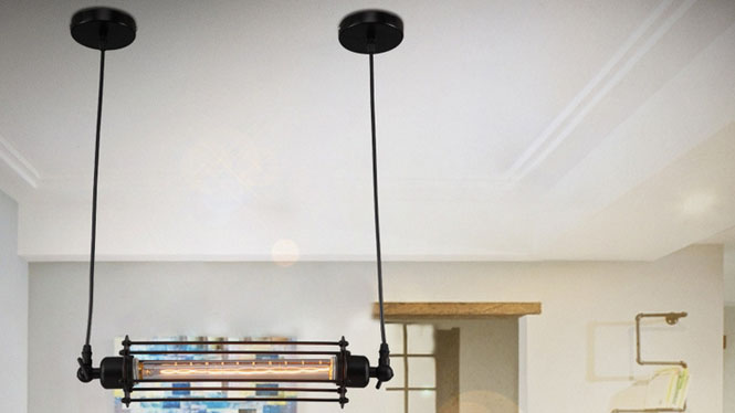美式乡村Loft仓库工业风吊灯复古餐厅书房灯具 铁艺单头吊灯MD1222