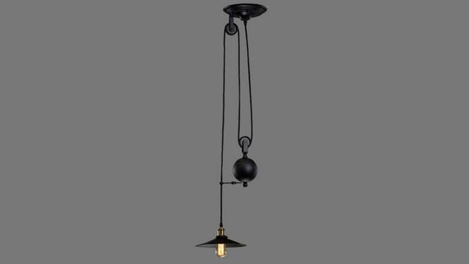 美式乡村复古铁艺吊灯loft创意餐厅酒吧咖啡厅升降吊灯单头2头3头MD1218