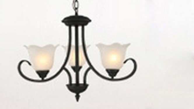 美式乡村铁艺吊灯客厅灯欧式卧室餐厅灯简约现代田园复古灯具3头6头8头9头6650