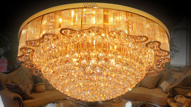 客厅灯led吸顶灯水晶灯大厅家居照明洒店工程灯1510103