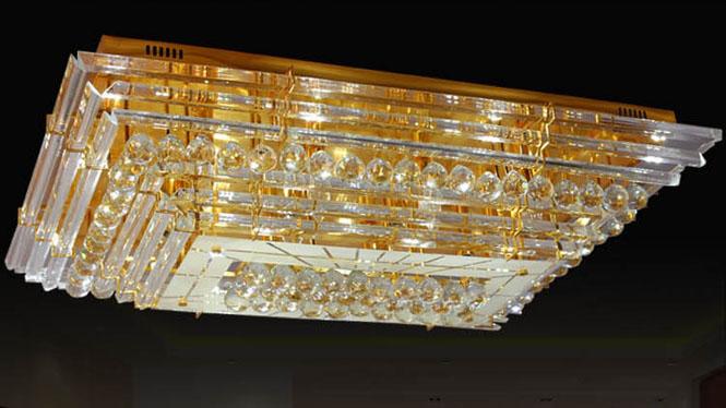 长方形吸顶灯客厅照明灯具水晶灯卧室灯 10105