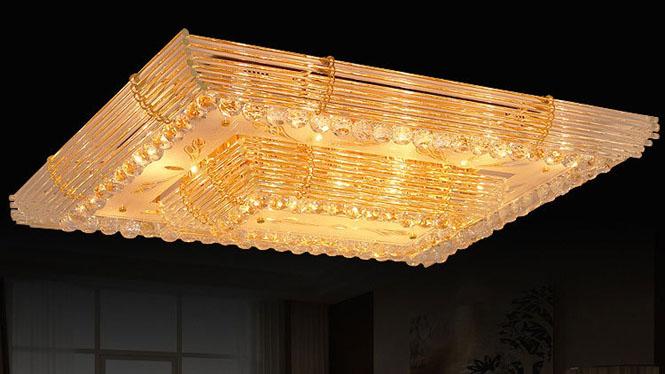 方形 吸顶灯 led长方形客厅灯 水晶灯卧室灯 6118