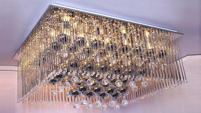 现代平板低压客厅灯照明灯具水晶吸顶灯灯饰 5061