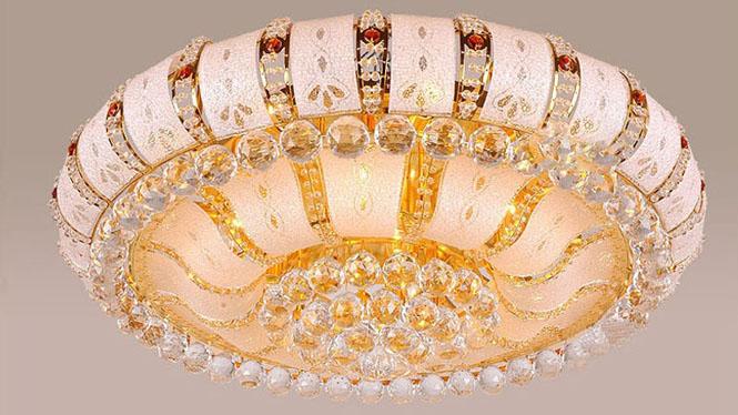 金色圆形客厅吸顶灯 LED遥控具灯600mm800mm1000mm 5121