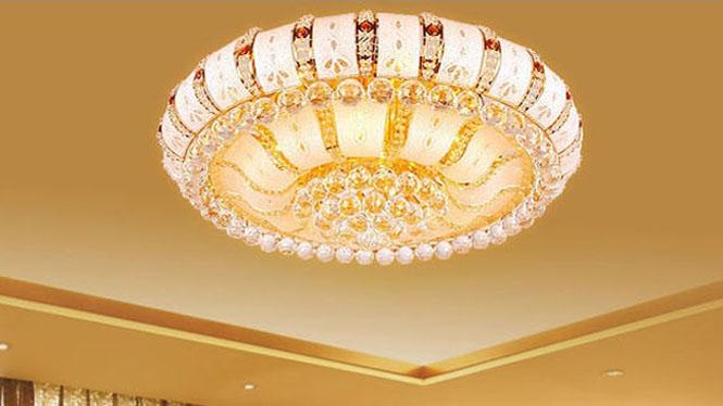 金色圆形客厅吸顶灯 LED遥控具灯1000mm600mm800mm 5121