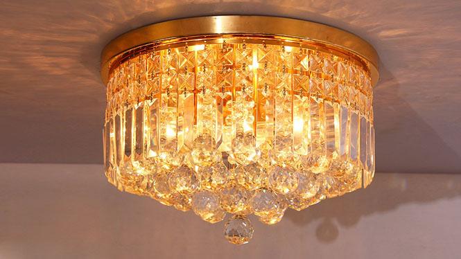 卧室 过道灯玄关灯欧式客厅吸顶灯水晶灯 10101-300