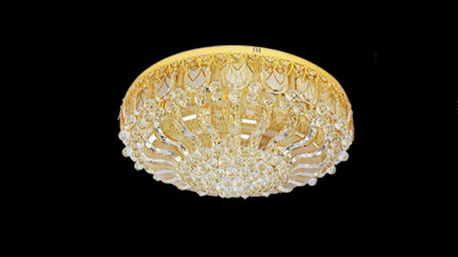 金色圆形LED遥控卧室客厅灯酒店灯吸顶灯806
