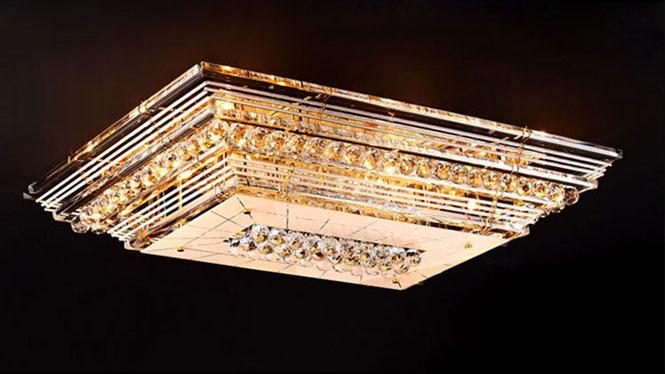 欧式长方形吸顶灯led遥控客厅灯长方形 led 787