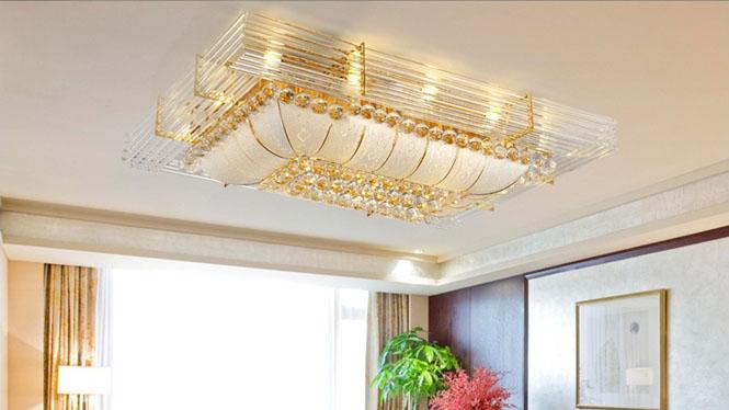 LED长方形客厅灯吸顶灯现代客厅卧室水晶灯6012