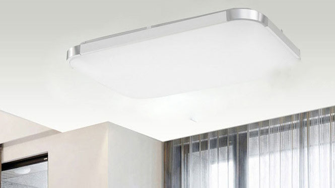 铝材LED吸顶灯现代客厅卧室LED灯具长方形苹果灯6813