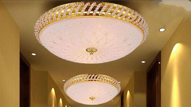 金色圆形lLED面包灯祥云卧室灯客厅过道A002