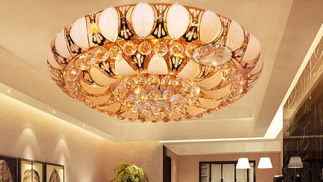 水晶灯客厅灯吸顶灯厂家直销水晶灯饰具小树叶 A212C1
