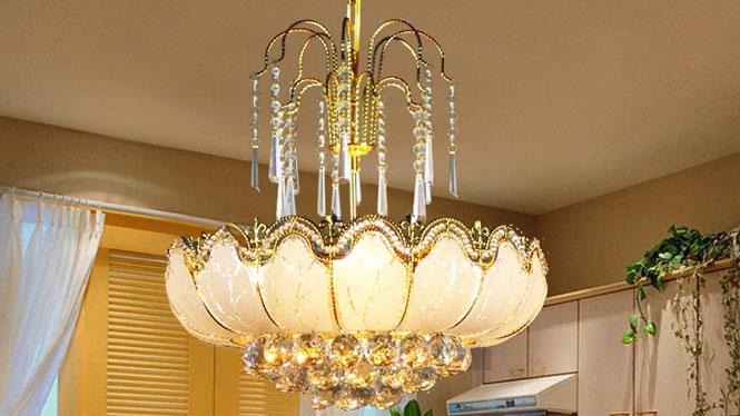 吊灯金黄色客厅餐厅灯欧式吊灯现代楼梯吊灯6头 A118P2