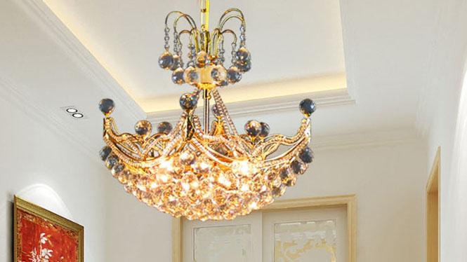 金色水晶吊灯一帆风顺餐吊灯 个性简约6个 A112