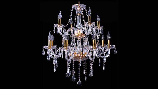 欧式水晶蜡烛吊灯客厅餐厅走道灯具批发12头8头6头 JB002