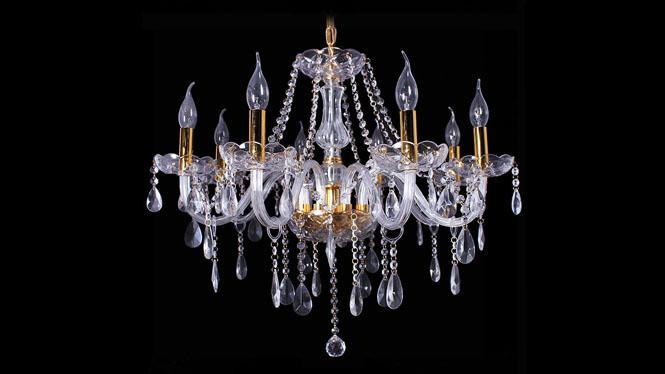 欧式水晶蜡烛吊灯客厅餐厅走道灯具批发8头6头12头 JB002