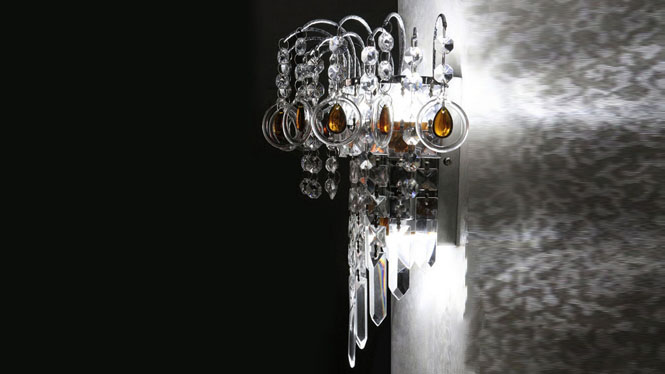 水晶壁灯金色壁灯现代简约时尚卧室客厅餐厅床 W1130