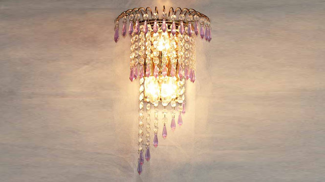 水晶壁灯客厅卧室楼梯过道家居照明壁灯具饰 W1131