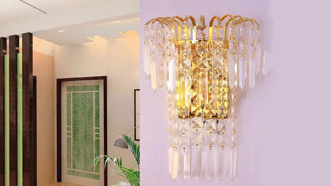壁灯客厅卧室金色现代简约家居照明灯具饰W1140