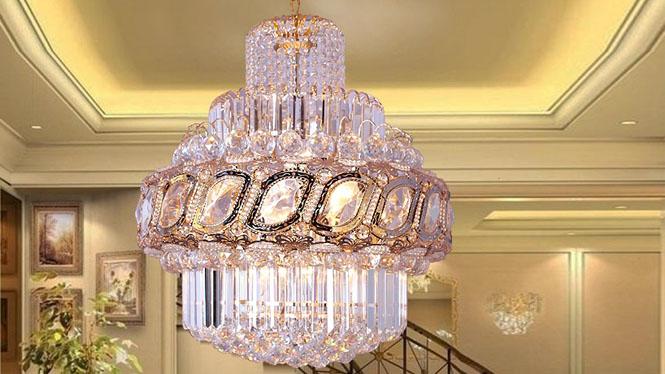 新款F金吊灯客厅吊顶灯楼梯家居照明灯具饰6头 S10121