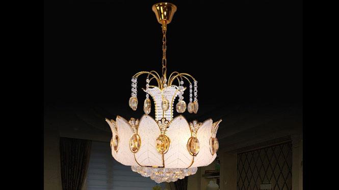 LED吊灯遥控S金客厅餐厅灯欧式吊灯现代楼梯吊灯5头 3582