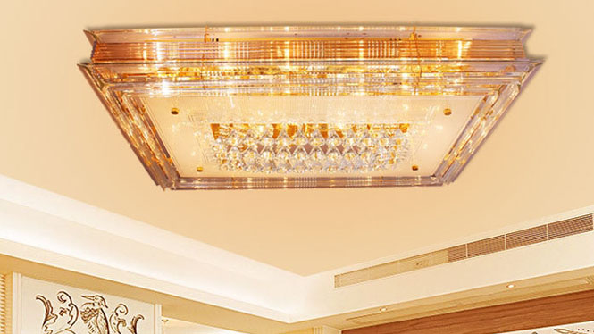 金色客厅灯吸顶灯家居照明灯具饰水晶灯吸顶灯9958