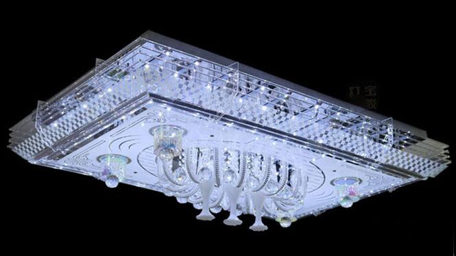 水晶灯客厅灯欧美式现化简约卧室个性创意吸顶灯1571