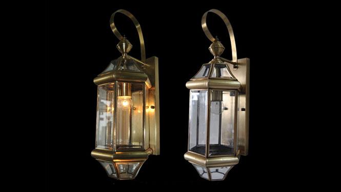 欧式全铜创意玻璃焊锡壁灯 仿古阳台led户外景观庭院防水壁灯B711
