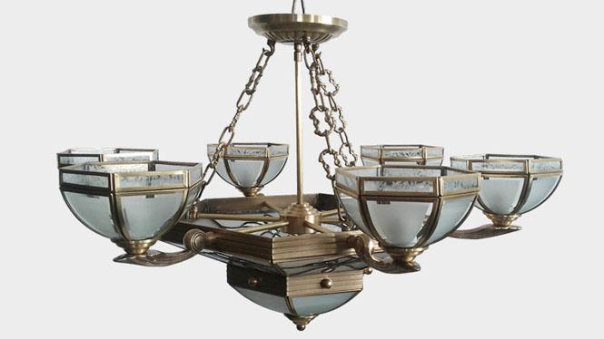 新款欧式全铜吊灯 欧式客厅铜吊灯 仿古创意餐吊灯D003-6