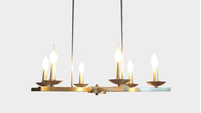 新款中式铜吊灯 复古创意蜡烛吊灯 个性简约卧室客厅灯LD2737-6