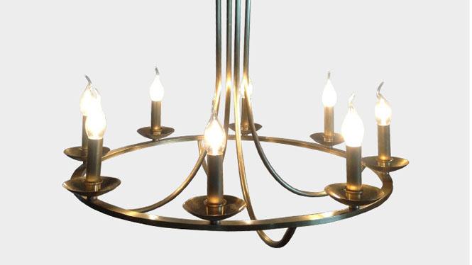 全铜卧室吊灯 欧美式复古铜吊灯 个性艺术客厅餐厅吊灯LD2737-8
