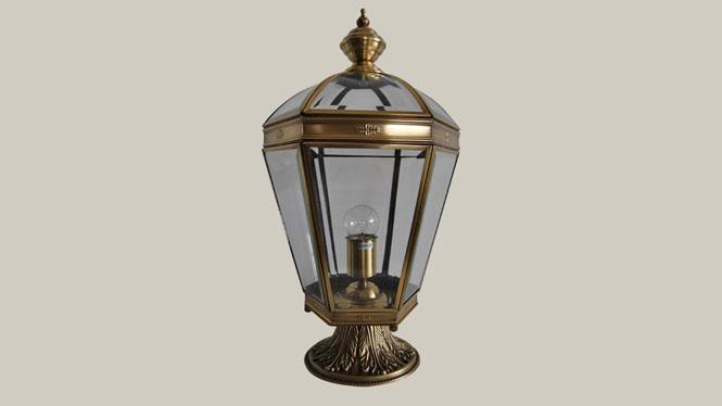 欧式庭院灯 户外草坪柱头灯 全铜焊锡室外围墙灯柱头灯ZT803