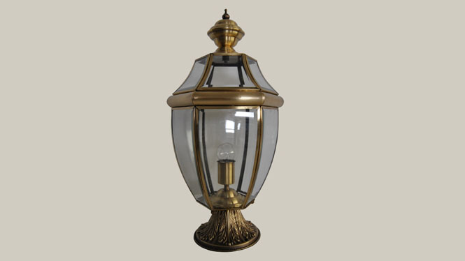 欧式全铜户外柱头灯 美式围墙阳台柱头灯 田园风格风景池柱头灯ZT809M