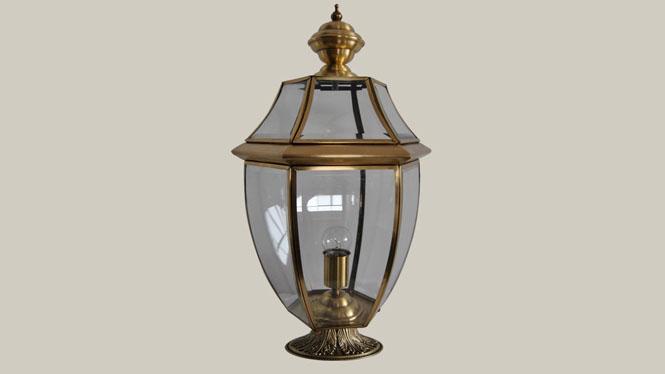 欧式全铜焊锡围墙灯 庭院灯 美式户外柱头灯 地中海风格柱头灯ZT810