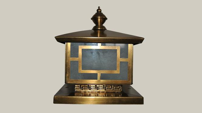 全铜焊锡户外柱头灯 欧式围墙阳台风景池柱头灯 美式庭院ZT10