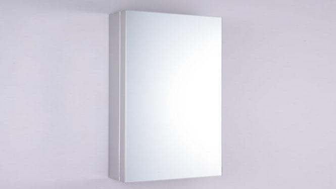 单门浴室镜柜 不锈钢浴室柜 卫生间镜子带置物柜 卫浴镜箱320×460mm GD6008