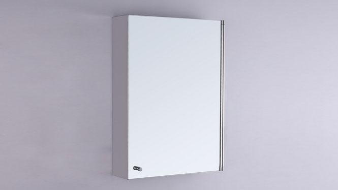 单开门浴室镜柜 不锈钢浴室柜 镜子带收纳柜组合420×600mm  GD8129
