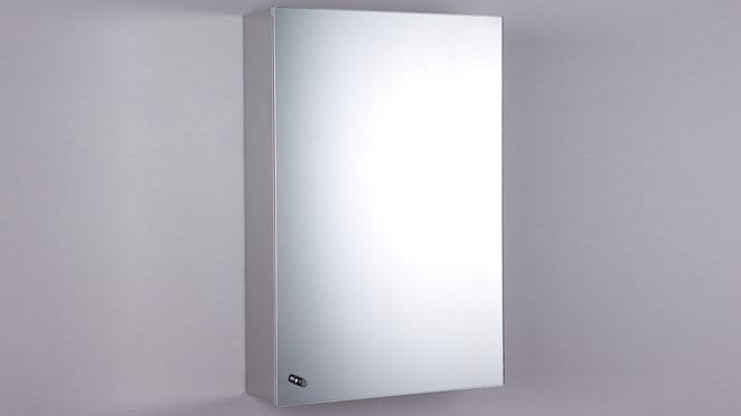 不锈钢镜柜 单门浴室柜镜 卫生间镜子带置物柜400×600mm GD6130B