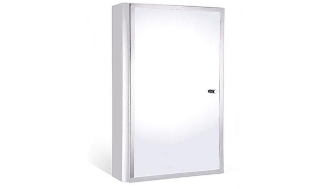 不锈钢镜柜 单门浴室柜镜 卫生间镜子带置物柜 小户型浴柜350×500mm GD2106