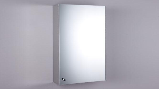 不锈钢镜柜 单门镜柜 卫生间镜子带置物柜300×500mm GD6132B