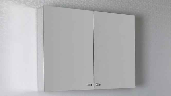 双开门镜柜 不锈钢浴室柜 洗手间镜子带置物柜组合500×600mm  GD6288