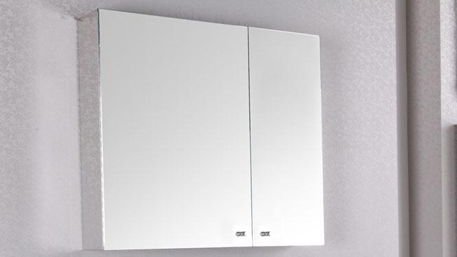 浴室镜柜 双门卫生间置物柜 卫生间镜子带置物柜600×600mm GD6204B