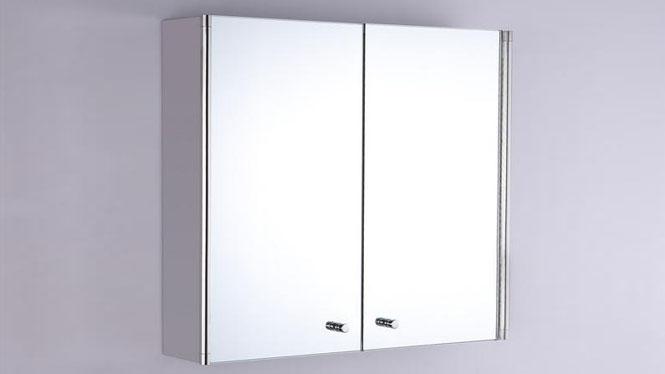 卫生间浴室柜 双开门不锈钢镜柜 简约浴室镜柜600×600mm GD8202