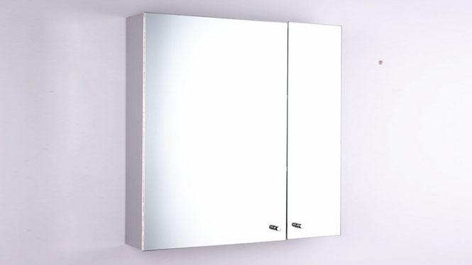双开门不锈钢镜柜 高品质挂墙式不锈钢浴室柜500×600mm GD6288B